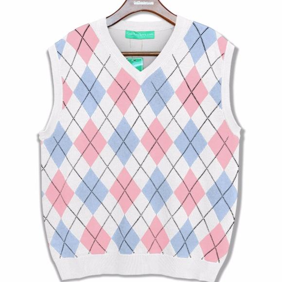 Ralph Lauren Sweaters Pink Argyle Sweater Vest Poshmark
